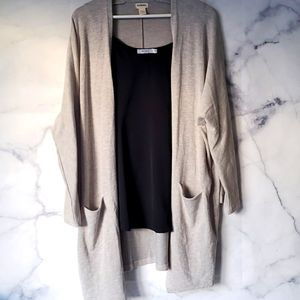 DONNI. Ribbed Sweater Coat